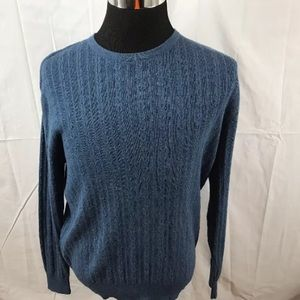 PENDLETON Mens M Cable Knit Sweater Cotton Wool